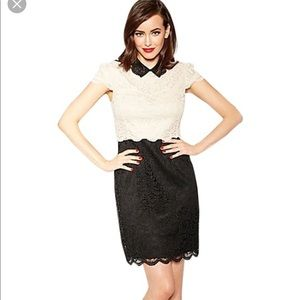 Black and Off white  Betsey Johnson lace dress